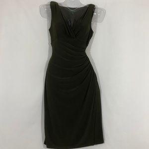 Lauren Ralph Lauren Ruched Dress criss cross vneck